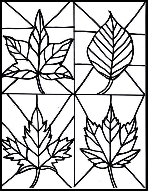 coloring sheet leaf pattern traceable leaf patterns coloring home