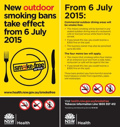 smoke free signage and resources tobacco and smoking