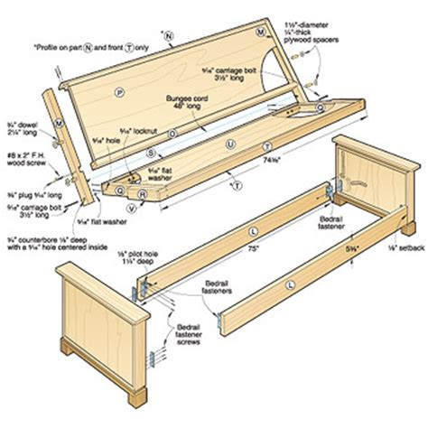 how to make a futon frame directions wood futon frame plans projects to try pinterest