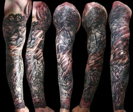 black grey sleeve tattoo designs best design black and grey space sleeve