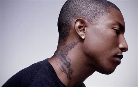 pharrell neck tattoo pharrell williams isn t happy with his tattoos