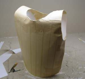 How To Make Paper Mache Armor - armor out of cardboard and paper mache for my gracie