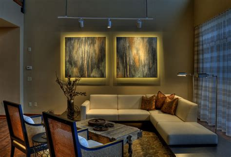 Condo Living Room Lighting Ideas with Downtown Condo Contemporary Living Room Wichita By Interior Trends Inc Design Remodeling