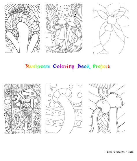 abstract mushrooms coloring pages kinkyswitch s abstract psychedelic art thread grasscity