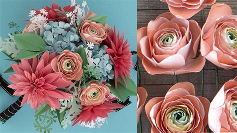 How To Make A Paper Bouquet - how to make a paper flower bouquet ranunculus