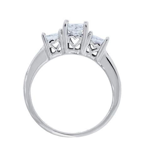 white gold ctw princess cut diamond engagement ring