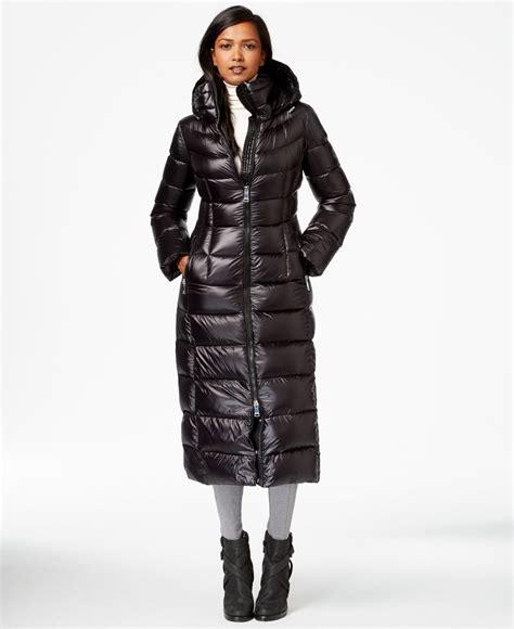 Calvin Maxy lyst calvin klein maxi puffer coat in black