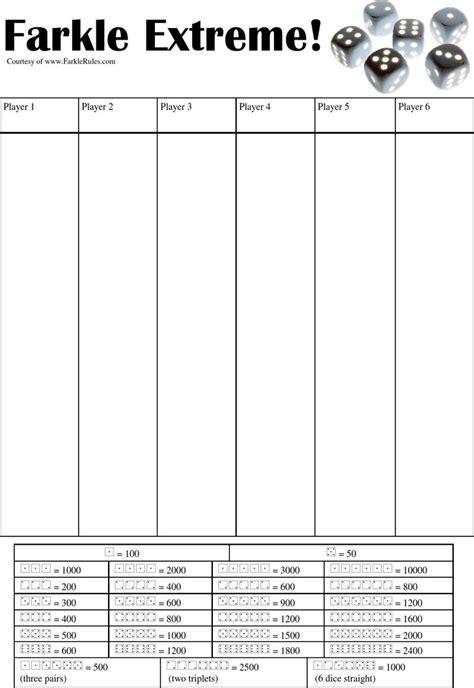 farkle score sheet farkle score sheet free premium templates