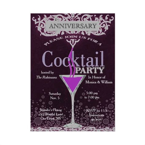 cocktail invitation template cocktail invitation templates 10 free psd vector