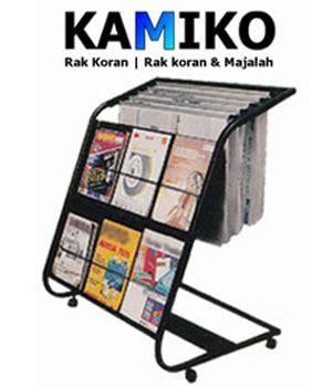 Rak Koran Besi rak koran majalah kamiko 611 kddesain toko