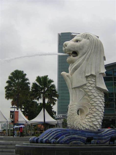 Tas Import Singa muasal patung merlion singapura dunia pusaka sakti