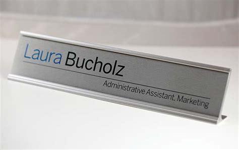 Name Plates For Office Desk Metal Desk Sign Executive Desk Sign Ceo Desk Nameplate