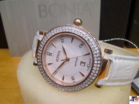 Jam Tangan Wanita Bonia Tali Kulit jual jam bonia tali kulit bpt225 putih rosegold