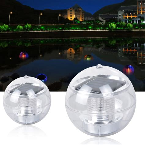 Multi Led Light Solar Floating Water Swimming Pool Ball 7 Floating Solar Swimming Pool Lights