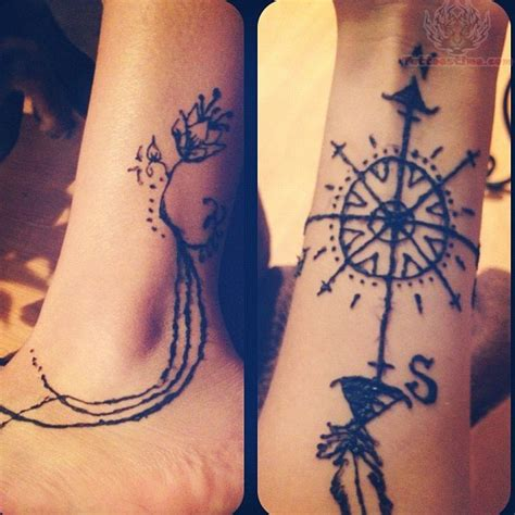 compass tattoo wrist compass