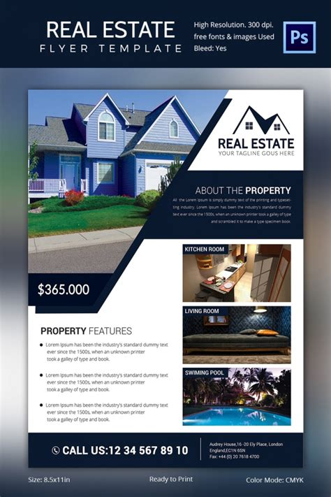 realtor flyer template by stocklayouts real estate marketing