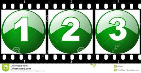numero verde di commercio striscia verde della pellicola di numero 1 2 3 fotografia