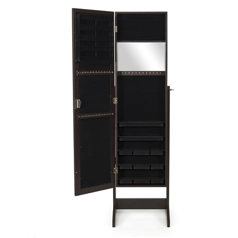 Armoire Mirror Jewelry Boxes by Mirrored Jewelry Cabinet Mirror Organizer Armoire Storage