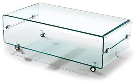 glass coffee table wheels modern bent glass coffee table on casters slide