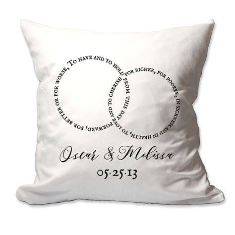 Personalized Wedding Throw Pillows   Pattern Pop