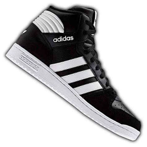 Hombres De Las Adidas Originals Extaball Alto Parte Superior Cuero Zapatos De Basquetbol Negro Blanco M20863 Zapatos P 194 by Botas Adidas Blancas Hombre