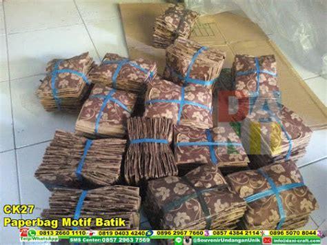 paperbag motif batik souvenir pernikahan