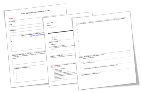 lesson plan templates literacy solutions
