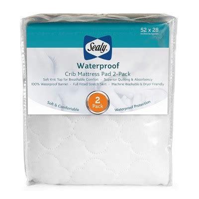Target Crib Mattress Pad Sealy Waterproof Crib Mattress Pad 2pk Target