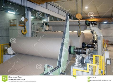 Paper Pulp Machine - paper and pulp mill fourdrinier machine stock image