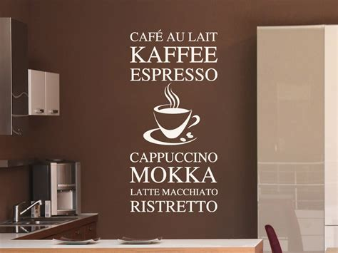 macchiato farbe modernes wandtattoo kaffee variationen wandtattoo net