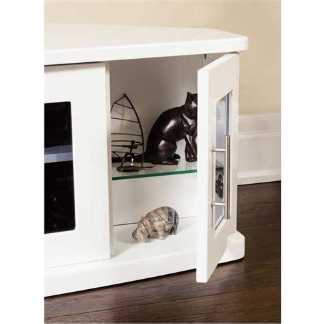 Plateau Newport Corner Wood Tv Cabinet With Glass Doors Corner Tv Cabinets With Glass Doors