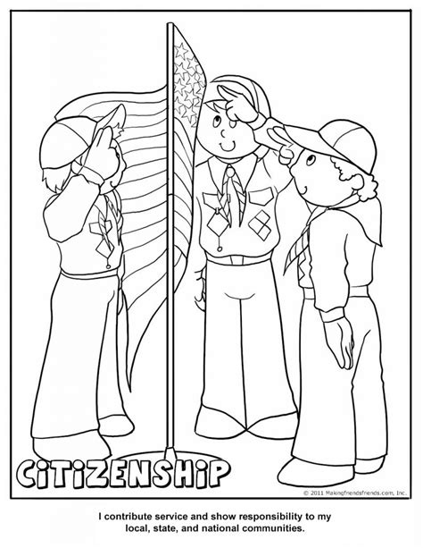 Cub Scout Coloring Pages Scouts Coloring Pages Free