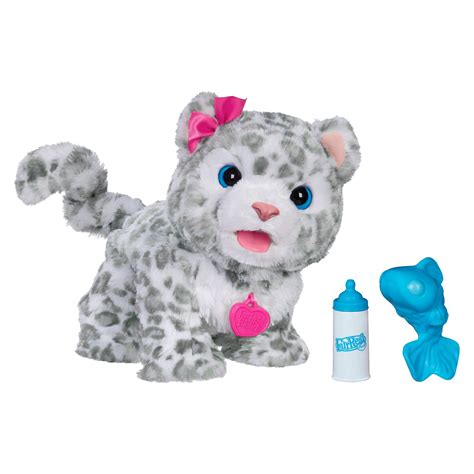 furreal friends furreal friends flurry my baby snow leopard pet exclusive toys