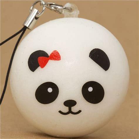 Panda Bun ciondolo morbido cellulare squishy panda fiocco rosso squishy cibi squishies negozio modes4u