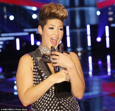 adam levine the voice winners tessanne chin is crowned winner on the voice as adam