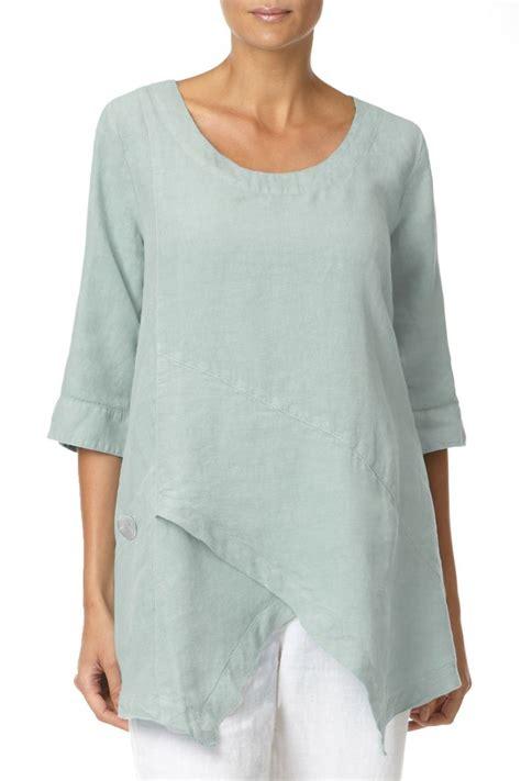 line tunik asymmetric linen tunic linen shop wear