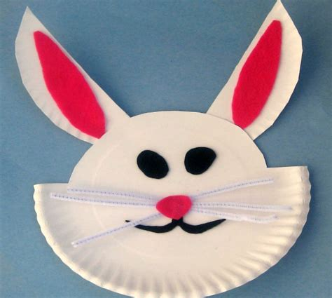 Easter Bunny Paper Plate Craft - arts and crafts to make for easter kazure top