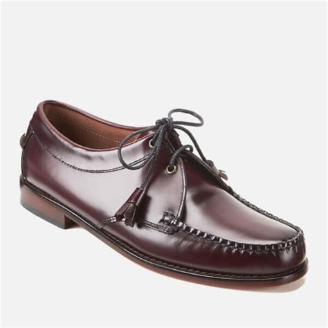 mens bass weejuns loafers bass weejuns s lace up leather loafers wine free