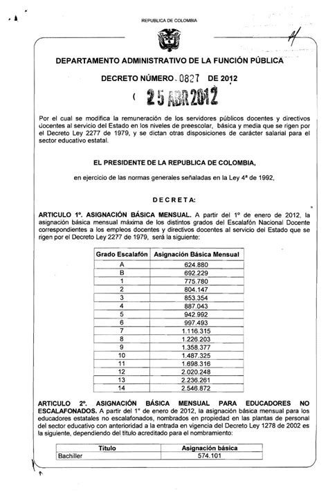 escalafon docente 2277 2016 tabla salarial docente 2015 html autos post