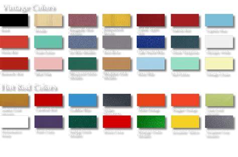 web color chart paint palette