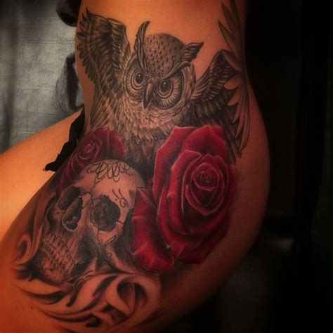 owl and rose tattoo 159 best images about on
