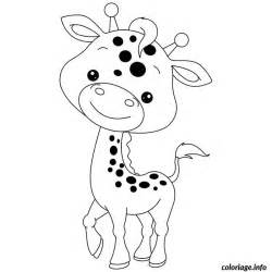 coloriage bebe girafe jecolorie