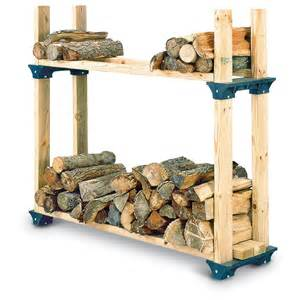 Lumber Storage Rack Plans Free by 2 Pk Firewood Rack Kit 102237 Yard Amp Garden At