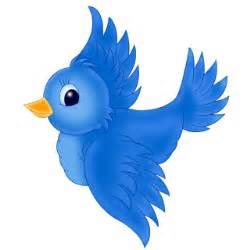 Blue bird cartoon bird clip art images