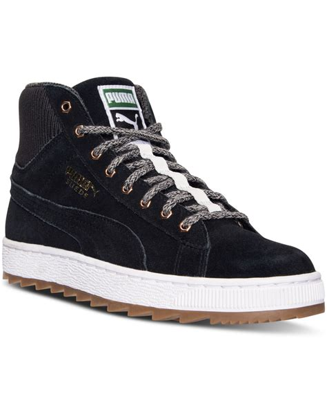 rugged sneakers s suede winterized rugged mid casual sneakers from finish line in black lyst