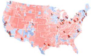 map of us 2012 presidential election results versus