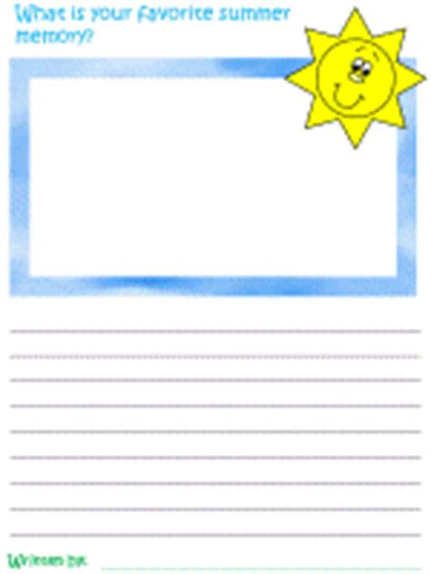 summer writing paper template summer creative writing prompts