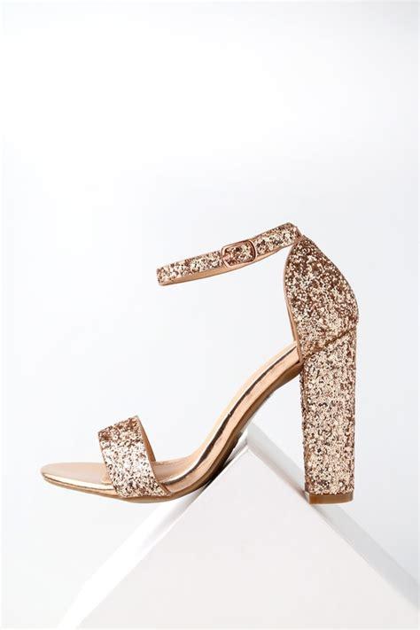 heels 5 cm glitter glossy mewah shiny glitter heels gold heels shoes