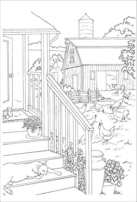 coloring pages of garden scene de 38 beste afbeeldingen over color farm life op