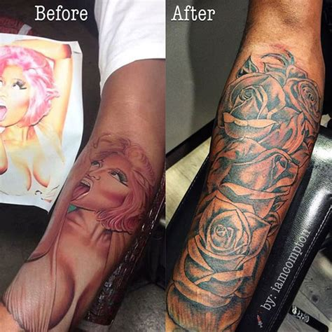 nicki minaj arm tattoo safaree samuels covers up nicki minaj rap up